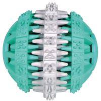 Trixie Dentafun Míč s mátou zeleno-bílý, 6 cm