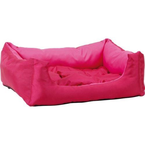 Pelech pro zvířata Argi obdélníkový s polštářem - růžový - 40 x 30 x 17 cm