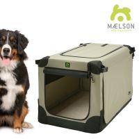 Přepravka pro psy Maelson - černo-béžová - velikost XXXL, 120x77x86 cm - POŠKOZENÝ OBAL