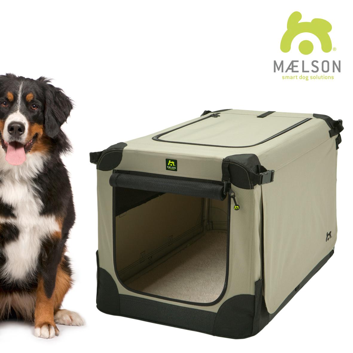Přepravka pro psy Maelson - černo-béžová - XXXL, 120x77x86 cm