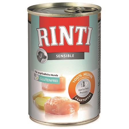 Rinti Sensible konzerva - kuře & brambory pro psy s citlivým trávením 400 g