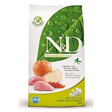 N&D Grain Free Dog Adult Maxi Boar & Apple 12 kg
