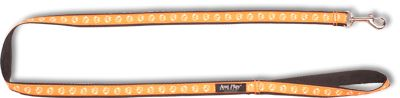 Vodítko pro psa nylonové - oranžové se vzorem pes - 2 x 150 cm