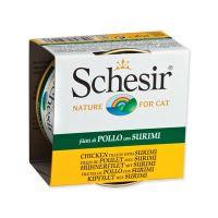 Konzerva SCHESIR Cat kuřecí + surimi v želé 85 g