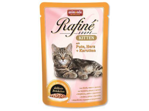 Animonda Rafine Soupe Kitten Kapsička - krůta & srdce & mrkev pro koťata 100 g