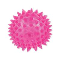 Hračka DOG FANTASY míček LED růžový 6 cm
