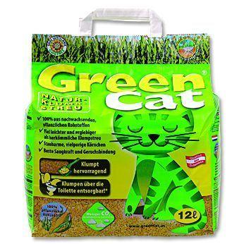 Green Cat hrudkující bezprašný kočkolit 12 l