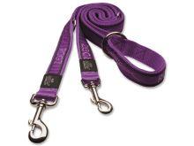 Vodítko pro psa přepínací nylonové - Rogz Fancy Dress Purple Chrome - 2,5 x 160 cm