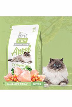 Brit Care Cat Angel I`m Delighted Senior - kuře & rýže pro kočky nad 8 let