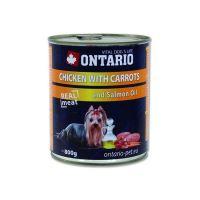 Ontario Chicken, Carrots, Salmon Oil konzerva - kuřecí & mrkev & lososový olej pro dospělé psy 800 g
