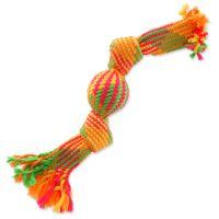 Přetahovadlo DOG FANTASY barevné + míč 2 knoty 33 cm