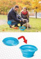 Silikonová cestovní miska Argi - modrá - 700 ml