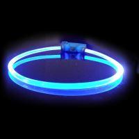 Obojek pro psa svítící - Red Dingo Lumitube led - modrý - 15 - 80 cm