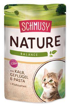 Schmusy Nature Menu Junior kapsička - telecí & drůbež pro koťata 100 g