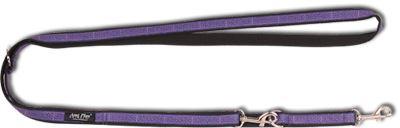 Vodítko pro psa přepínací nylonové - fialové se vzorem - 2 x 100 - 200 cm