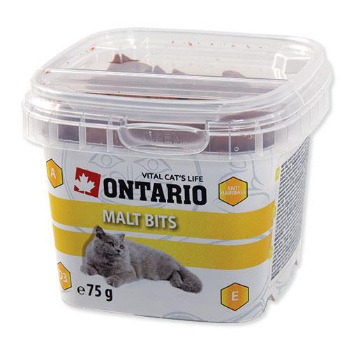 Ontario Snack Malt Bits - pochoutka pro prevenci bezoárů pro kočky 75 g