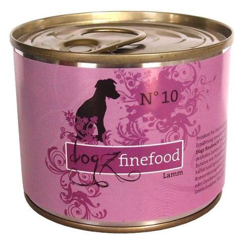 Dogz Finefood No.10 Konzerva - jehněčí pro psy
