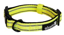 Alcott reflexní obojek pro psy, žlutý, velikost L