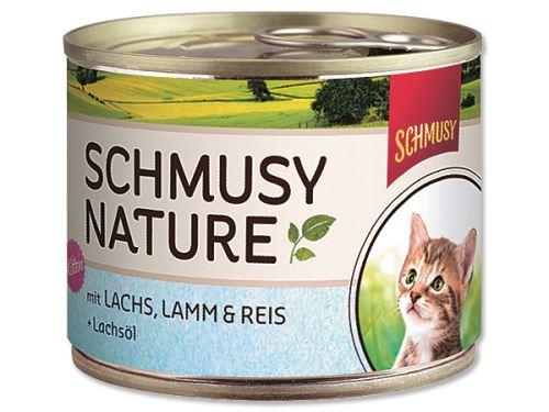 Schmusy Nature Menu Junior konzerva - losos & jehně pro koťata 190 g