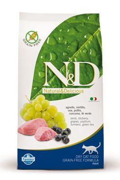 N&D Grain Free Cat Adult Lamb & Blueberry 1,5 kg