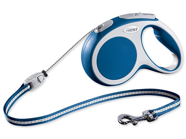 Flexi Vario Samonavíjecí vodítko lankové modré - 5m/20kg