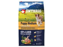 ONTARIO Puppy Medium Lamb & Rice