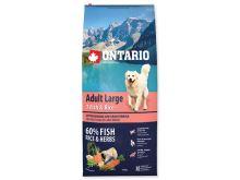 ONTARIO Dog Adult Large Fish & Rice 12 kg + 2,25 kg ZDARMA