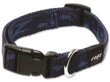 Obojek pro psa nylonový - Rogz Alpinist - modrý - 1,6 x 26 - 40 cm