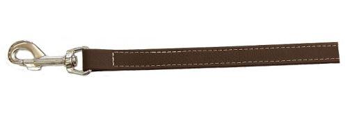 Vodítko pro psa Argi z eko kůže - hnědé - 2,5 x 125 cm