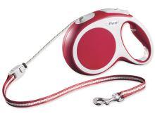 Flexi Vario Samonavíjecí vodítko lankové červené - 8m/20kg