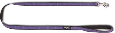 Vodítko pro psa nylonové - fialové se vzorem - 2,5 x 150 cm