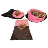 Marie Brožková Marysa Spací pytel 3v1 XL pro psy a kočky tmavě šedý se světle růžovou