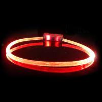 Obojek pro psa svítící - Red Dingo Lumitube led - červený - 15 - 50 cm