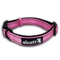 Alcott reflexní obojek pro psy, růžový, velikost M