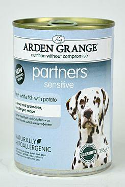 Arden Grange Partners Dog Sensitive - rybí konzerva pro citlivé trávení 395 g