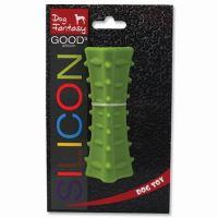 Dog Fantasy hračka tříboký silikonový hranol tmavě zelený