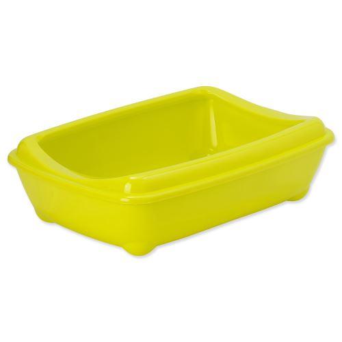 Toaleta MAGIC CAT Economy s okrajem žlutá 42 cm