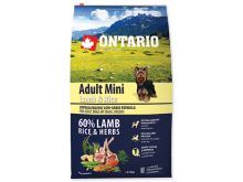 ONTARIO Dog Adult Mini Lamb & Rice 6,5 kg