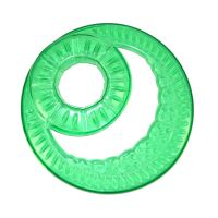 Frisbee - létající talíř s otvorem Argi - zelený - 23,5 cm
