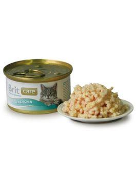 Brit Care Chicken Breast - konzerva kuřecí prsa pro kočky 80 g