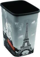 Curver odpadkový koš, DECO FLIP BIN, vzor Paříž, 25l