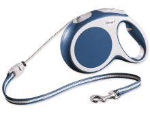 Flexi Vario Samonavíjecí vodítko lankové modré - 8m/20kg