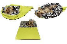 Marie Brožková Marysa Spací pytel 3v1 XL pro psy a kočky světle zelený vzor zebra