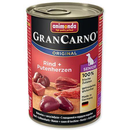 Animonda Gran Carno Senior Konzerva - kuře & krůtí srdce 400 g