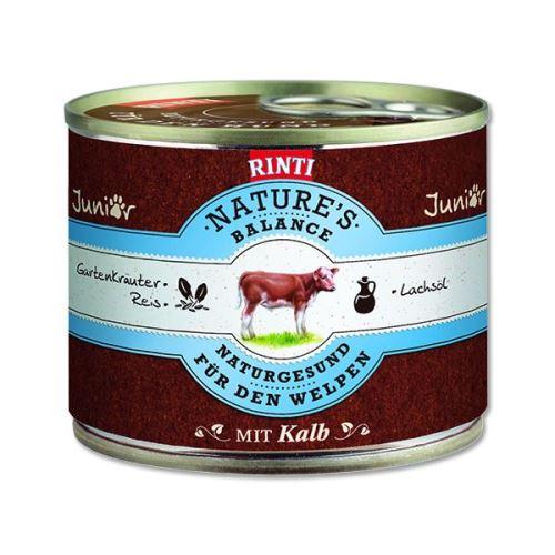 Rinti Nature's Balance Konzerva telecí & těstoviny & vejce pro psy