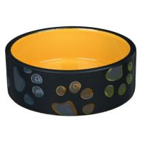 Keramická miska JIMMY tmavě šedá s packami 1,5l/20 cm