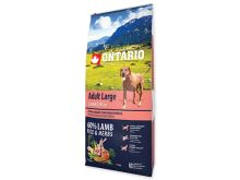 ONTARIO Dog Adult Large Lamb & Rice & Turkey 12 kg + 2,25 kg ZDARMA