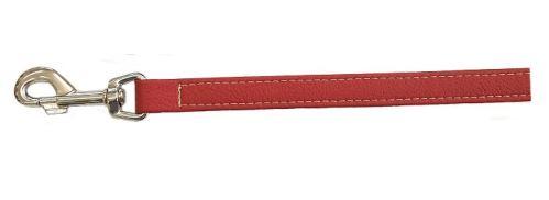 Vodítko pro psa Argi z eko kůže - červené - 2 x 125 cm