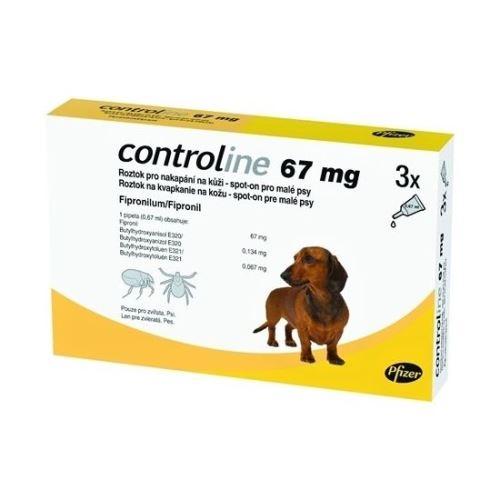 Controline Antiparazitní pipeta pro psy, 3 ks