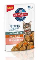 Hill's Feline kapsička Adult Young Sterilised Salmon - losos pro kastrované 85 g